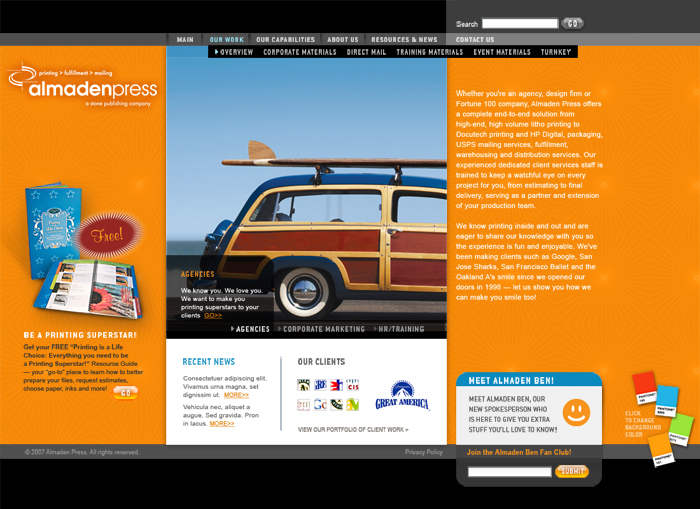 Almaden Press Home Page