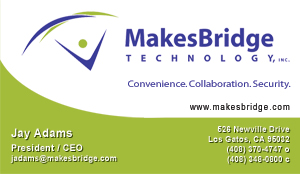 BridgeMail SYstems Business Card Screenshot