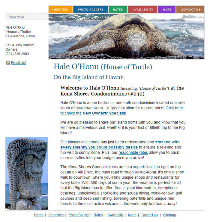 House of Turtle Home Page Screenshot